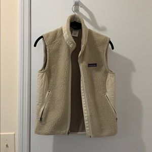 Patagonia vest faux shearling